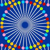 pin wheel R6X rainbow