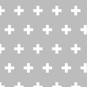 Crosses white on gray