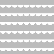 Scalloped bunting gray with white