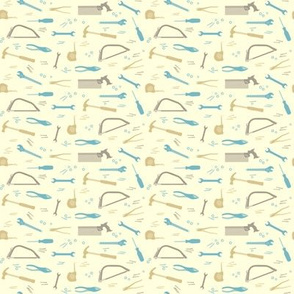 Pastel tools, ditsy print