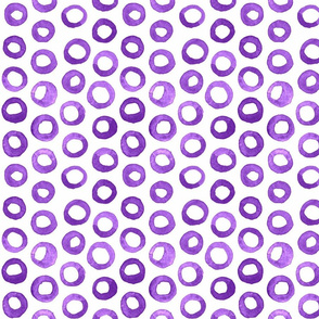 Purple Watercolor Circles