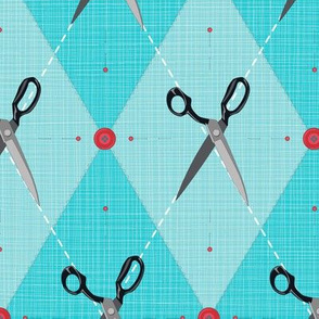 SewingNotions Scissors Argyle