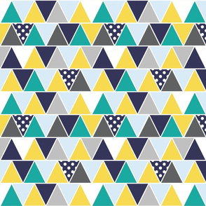 Triangles Blues Yellow Greys