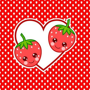 Strawberry Heart Patch