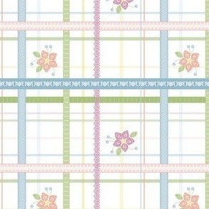 Ribbon Flower Plaid