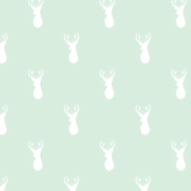 Deer white on mint