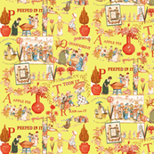 Kate Greenaway Tribute fabric