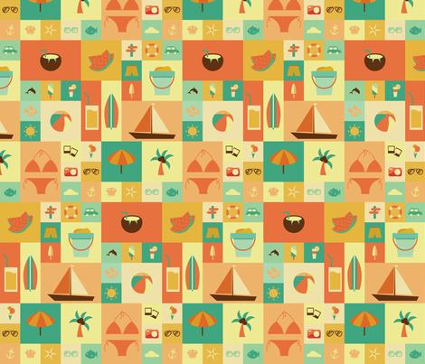 Beach Bliss fabric by studiofibonacci on Spoonflower - custom fabric
