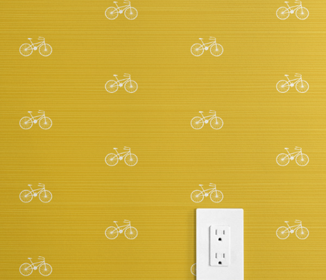 Bike on Yellow by Friztin