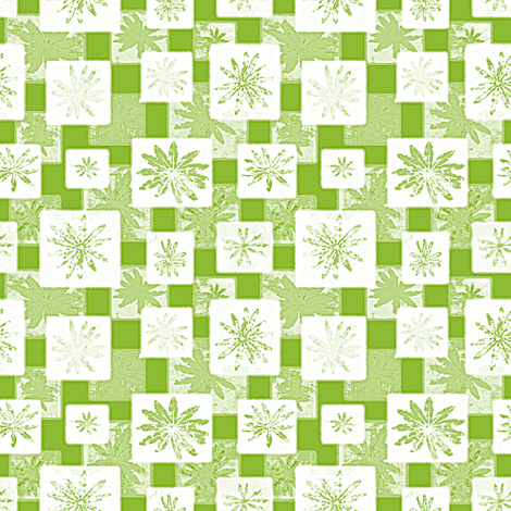 lupine leaf green fabric by keweenawchris on Spoonflower - custom fabric