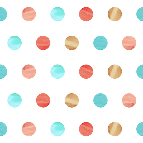 Watercolor Polka Dot fabric by willowlanetextiles on Spoonflower - custom fabric