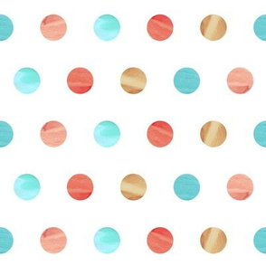 Watercolor Polka Dot