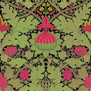 William Morris ~ Growing Damask ~ Fuschia