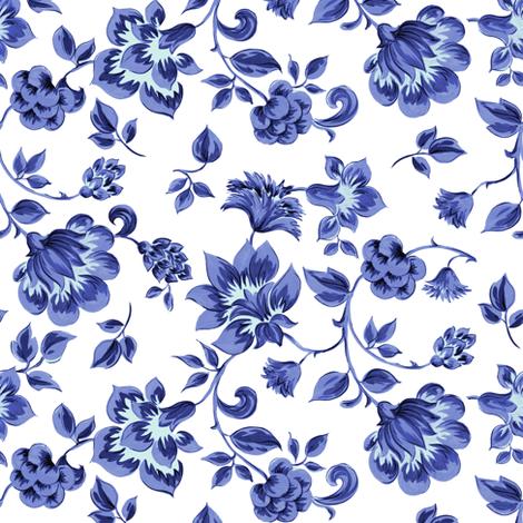 Fleurs de Provence ~ Provencal ~ Blue and White