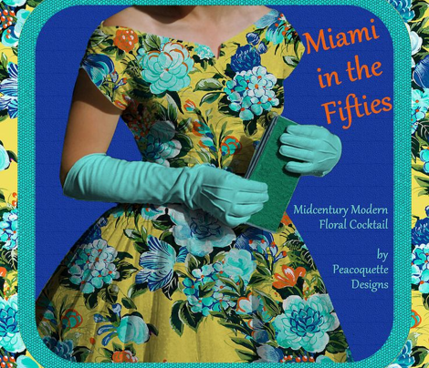 Mid Century Modern ~ Flower Cocktail ~ Miami