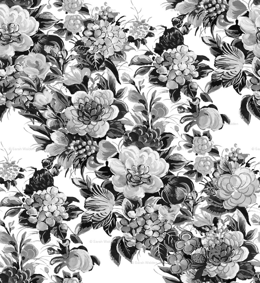 floral retro white damask volvoab