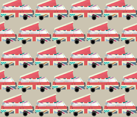 UK camper van pebble fabric by scrummy on Spoonflower - custom fabric