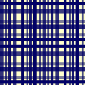 Vibrant Plaid Navy Blue & Cream