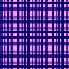 Vibrant Plaid Navy Blue & Light Violet