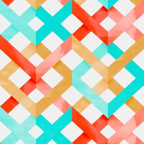 Watercolor Chevron Lattice