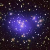 Dark Matter Map in Galaxy Cluster Abell 1689 (2010-08-19)
