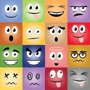 Cartoon Face Expressions (8x8)