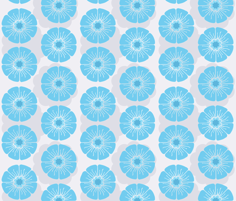Splendid Blue fabric by brainsarepretty on Spoonflower - custom fabric