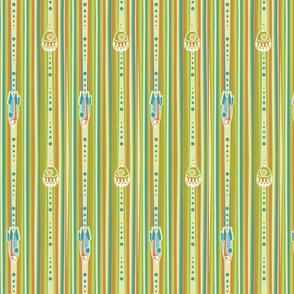 Rocket stripe green