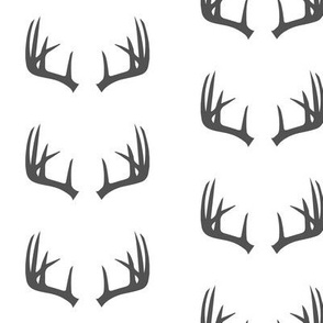 charcoal antlers // woodland collection