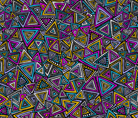 Tribal Triangles fabric by robyriker on Spoonflower - custom fabric