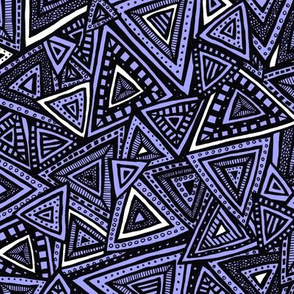 Tribal Triangles (purple)