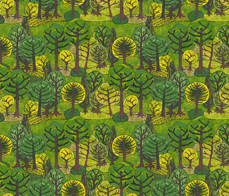 The avenues fabric by bippidiiboppidii on Spoonflower - custom fabric