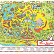 1971 Magic Kingdom Map