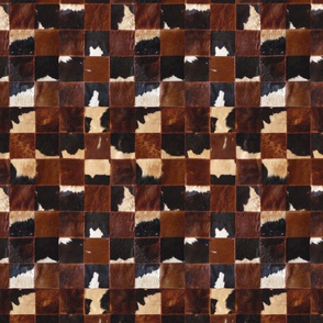 Cow skin patchwork blocks