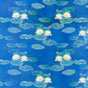 Monet: Nympheas Effet du Soir Waterlily Painting repeat