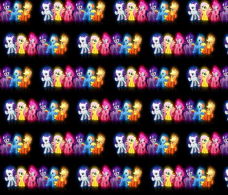 my_little_pony stripe fabric by jazzeira on Spoonflower - custom fabric