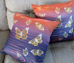 Butterflies pillow tops