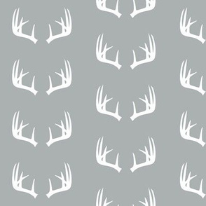 antlers on grey // small scale