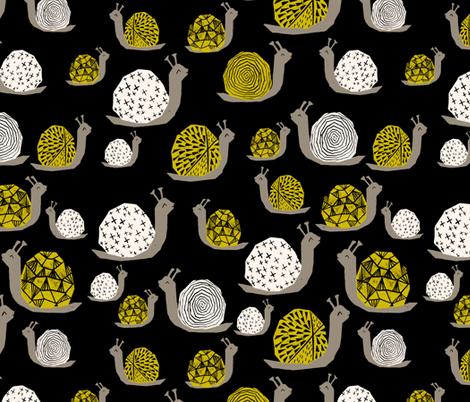 Snails - Goldenrod/Cream by Andrea Lauren