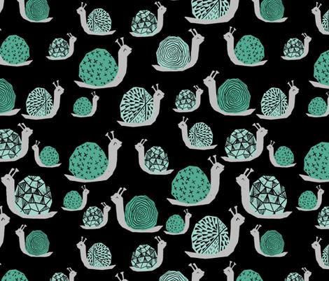 Snails - Seafoam/Pale Turquoise/Black by Andrea Lauren