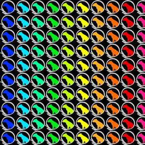 Rainbow canine silhouettes