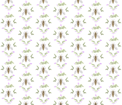 bee fabric by moose&quill on Spoonflower - custom fabric
