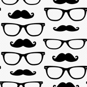 Hipster Mustache and Glasses Dot