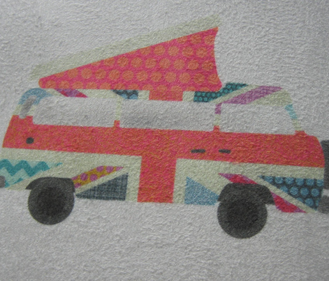 UK flag camper van swatch