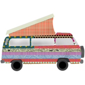 US flag camper van swatch
