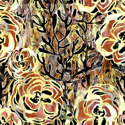 Vienna Deco floral in Sienna