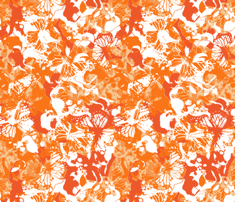 MY ORANGES BUTTERFLIES fabric by juliagrifol on Spoonflower - custom fabric
