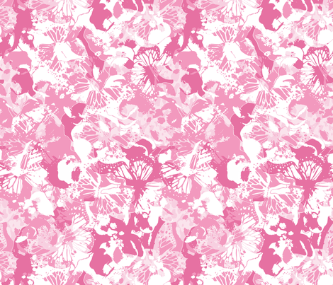 PINK BUTTERFLIES fabric by juliagrifol on Spoonflower - custom fabric