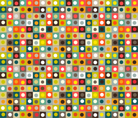 retro boxed dots fabric by scrummy on Spoonflower - custom fabric