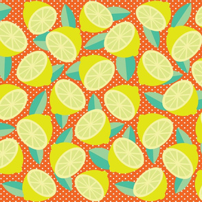 TARTY LEMONS (Tangerine Background)